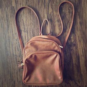 NWOT Small brown Two-Strap Backpack